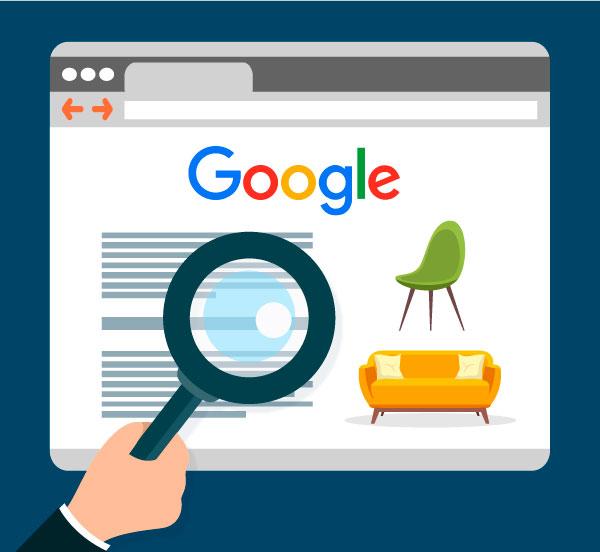 marketing negozio arredamento google