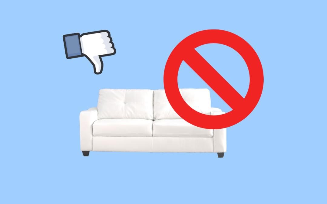La pagina Facebook di un negozio d'arredo, gli errori più comuni
